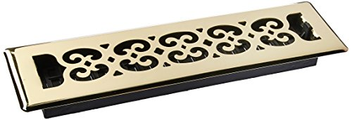 (Decor Grates SPH212 2-Inch by 12-Inch Scroll Floor Register, Polished Brass Finish)