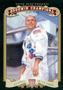 Alan Bean trading card (Astronaut) 2012 Upper Deck Goodwin Champions #30 (Autograph Bean Alan)