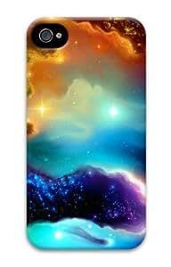 Iphone 4 4s 3D PC Hard Shell Case Rainbow Nebula by Sallylotus