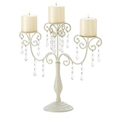 Candleholders Canelabras Ivory white Beaded Crystal CANDELABRA Candle holder Wedding table centerpieces