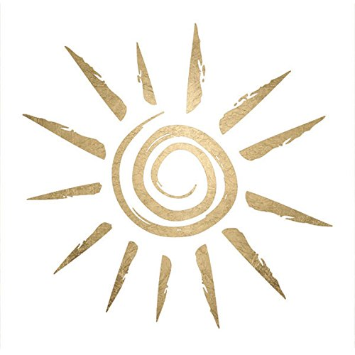 Sun-Metallic Gold Temporary Tattoos (5-Pack) | Skin Safe | MADE IN THE USA| Removable