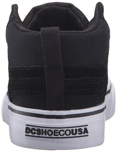 DC - Zapatillas de skateboarding para niño Negro y blanco