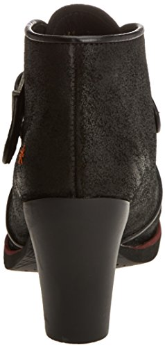 1141 Art Botines Black wax Negro Gran Para Via Mujer 68PUq6W