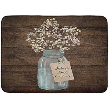 Amazon Com Ailovyo Monogram Custom Rustic Mason Jar
