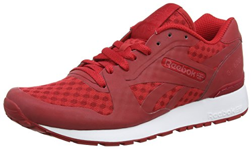 Reebok Gl 6000 Hidden Messaging Tech Pack, Zapatillas para Hombre Rojo (AQ9818_41 EU_Excellent Red/White/Black)