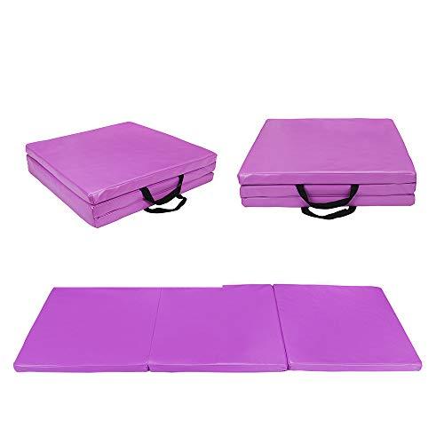Polar Aurora 4'x6'x2 / 2'x6'x1.5 Gymnastics Folding Mat Fitness Aerobics Exercise Yoga Tumbling Mat Colors