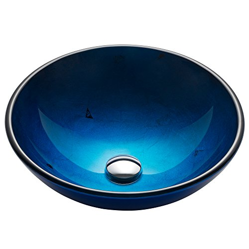 Kraus GV-204 Irruption Blue Glass Vessel Bathroom ()