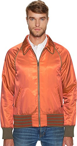 Marc Jacobs Mens Iridescent Twill Bomber Jacket Acid Salmon 50 (US 40) One Size