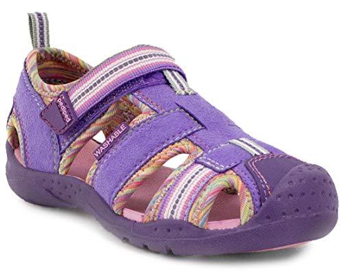 (pediped, Girls, Toddler, Big kid, Sahara, Lavender Rainbow, Clarino upper, Water Sandal - EU 28 (11-11.5 US) )