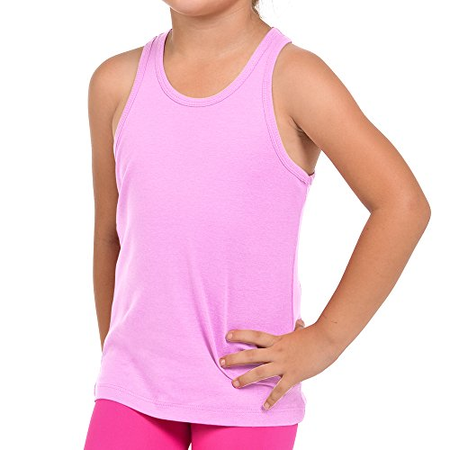 FRESH TEE Girls' Racer Back Tank Top Tunic (Big Girl 9/11, Pink)