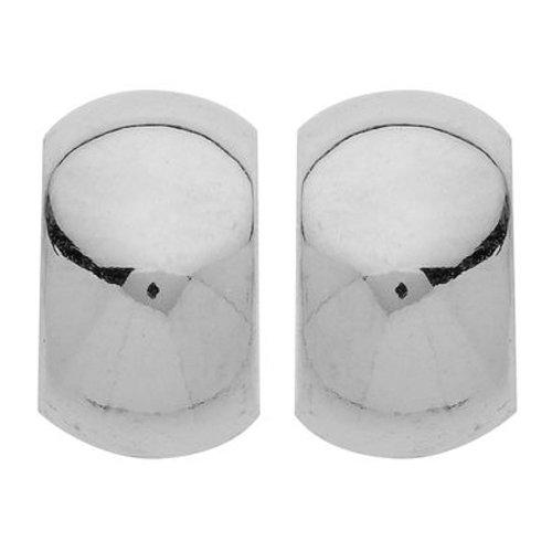 So Chic Bijoux © Boucles d'Oreilles Demi Créoles Lisse 6 mm Or Blanc 375/000 (9 carats)