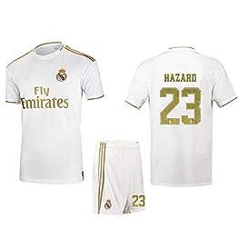 SEYE1° Ensemble De Football, Maillot du Real Madrid, Vêtements De Sport pour Le Football 7/23, T-Shirt De Football pour Garçon