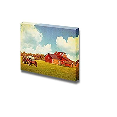 Canvas Prints Wall Art - Traditional Country Farm in Vintage/Retro Style | Modern Wall Decor/Home Art Stretched Gallery Canvas Wrap Giclee Print & Ready to Hang - 12
