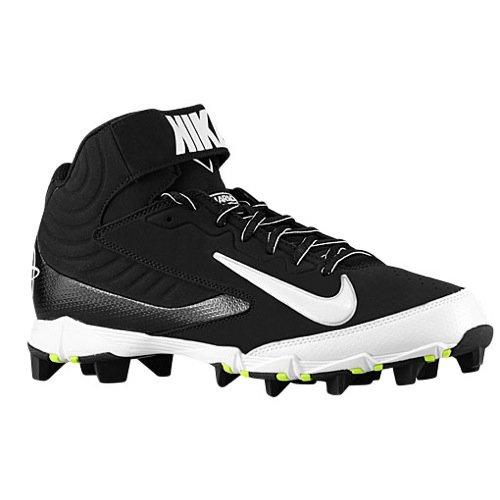 - Nike Men's Huarache Keystone 3/4 Baseball Cleat Black/White Size 13 M US