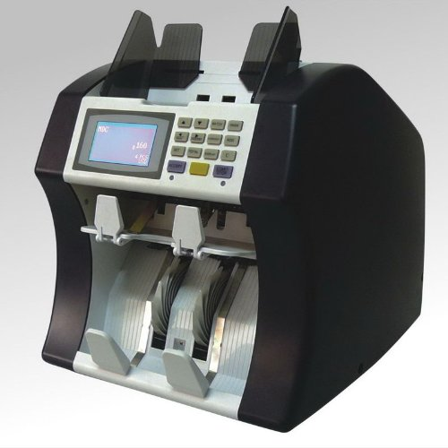 Ribao DCJ-280 Two Pocket Mix Value Counter, 1000 notes/min (SDC and CNT MODE), 900 notes/min (MDC MODE) Counting Speed, Roller Friction System, Approx. 800 notes Hopper Capacity