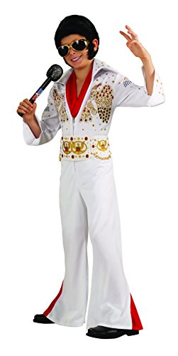 [Rubies Deluxe Elvis Child Costume, Small, One Color] (Rock And Roll Costume For Kids)