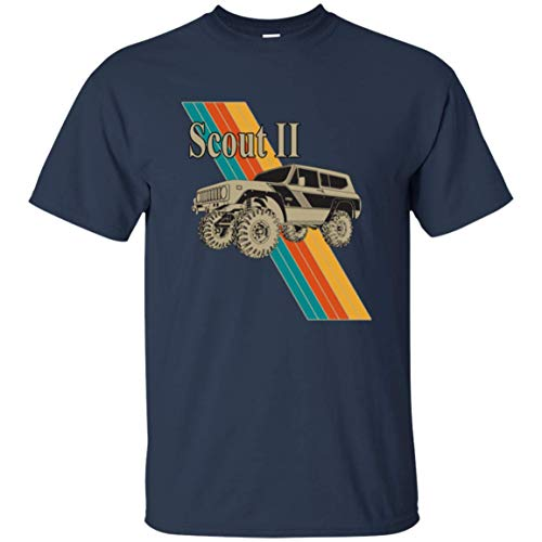 (Men's Cool International Scout II Hard Top Rallye Retro Graphic T Shirt Vintage (Navy, Large))