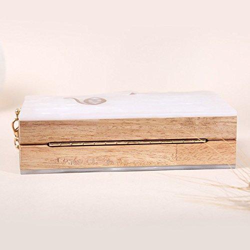de bandoulière Mesdames paquet White en de sculptée visage soirée une personnalisé sac épaule boîte crossbody acrylique embrayage tqn7aRrqO