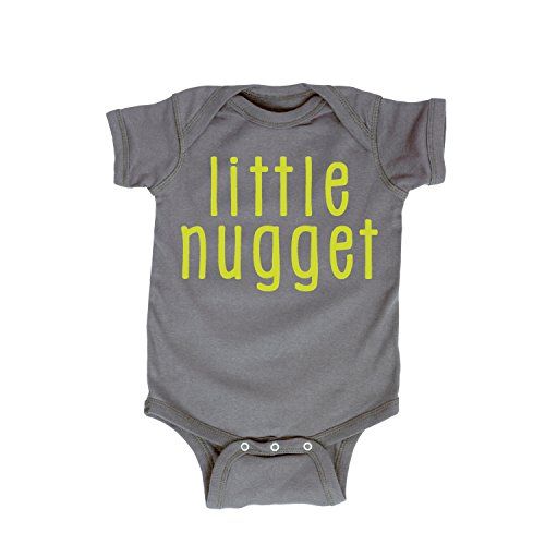 (Little Nugget-Infant One Piece-6M Charcoal)