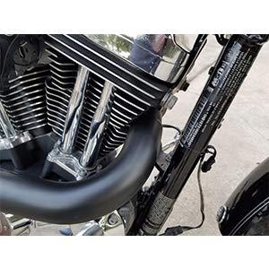 Softails et Douanes Harley-Davidson JFG RACING 2 Pouces Black LAF Drag Exhaust Pipes pour Sportsters Ensacheuses