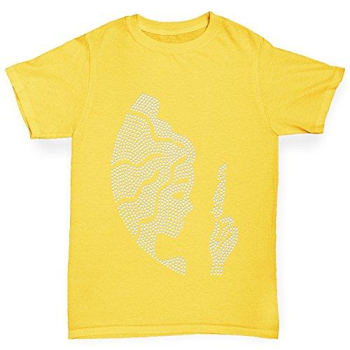 Twisted Envy Virgo Zodiac Star Sign Rhinestone Yellow Girl's T-Shirt Age (Gems For Grls)