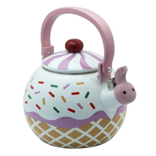 Supreme Housewares Whistling Tea Kettle, Strawberry Cupcake