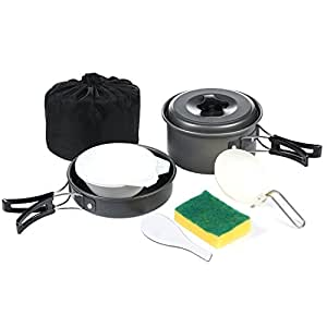 Amazon.com: Camping Cookware Mess Kit - iLOME 8pcs Outdoor