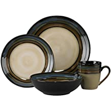 Pfaltzgraff Galaxy 16-piece Dinnerware Set, Green/Blue/Beige