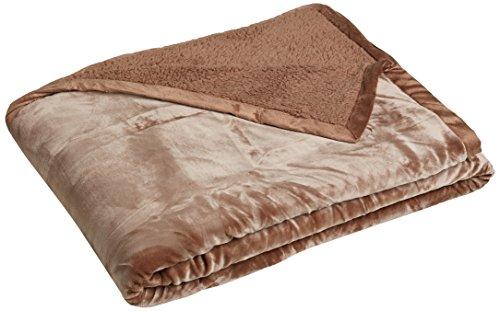 Northpoint  Ardour Velvet Berber Blanket, Full/Queen, Camel