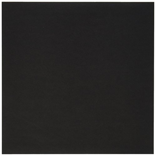Aitoh OG-BLK Origami Paper, 5.875-Inch by 5.875-Inch, Black, 50-Sheets