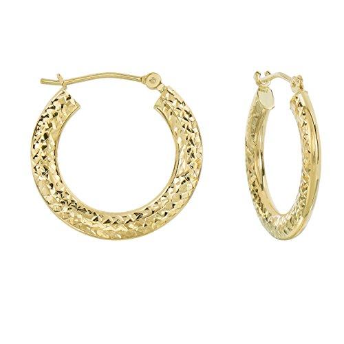 ond-cut Flat Hoop Earrings (0.8