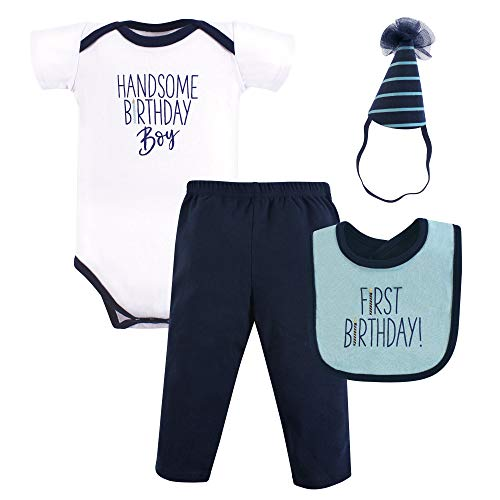 Hudson Baby Baby First Birthday Outfit, 4 Piece, Handsome boy, 12 Months ()
