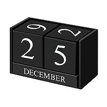 Creative Calendar Block Wooden Perpetual Desk Calendar Western Style Tabletop Calendar Home and Office Decor