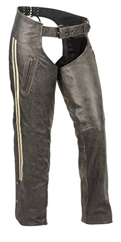 Women's Vintage Slate Chaps W/ Grey Racing ()