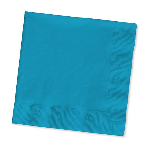 Creative Converting Touch of Color 2-Ply 50 Count Paper Lunch Napkins, Turquoise -