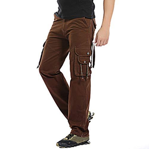 POHOK Men's Trouser Clearance!Casual Outdoors Long Pants Cotton Multi-pocket Work Trouser Cargo Pants