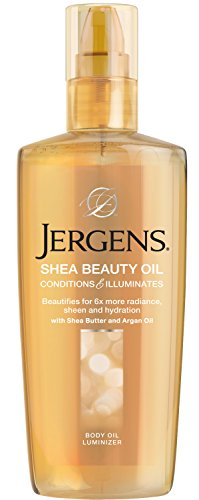 Jergens Shea Beauty Oil Body Oil Luminizer, 5 Ounces (Packaging May Vary) (Jergens Shea Butter Lotion)