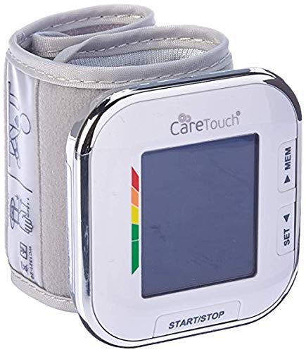 "41OOgxgbT2L - Care Touch Fully Automatic Wrist Blood Pressure Cuff Monitor - Platinum Series, 5.5"" - 8.5"" Cuff Size- Batteries Included"