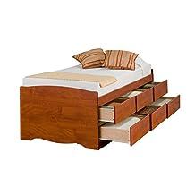 Prepac CBT-4106 Monterey Tall Twin/Mates Platform Storage Bed, 6-drawers (Cherry)