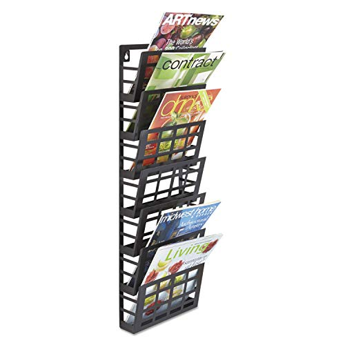- Safco Products 4662BL Grid Magazine Rack, 7 Pocket, Black