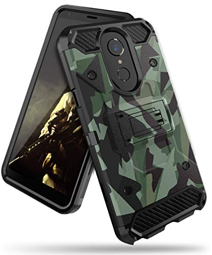 Halwen LG Stylo 4 Phone Case/LG Stylo 4 Case/LG Q Stylus Case, Man Armor Soldier Kickstand Military Case Three Layer Protective Shockproof Cover for LG Stylo 4 Case -