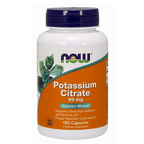 NOW Potassium Citrate,180 Capsules