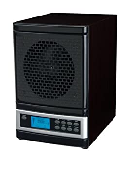 MicroLux ML4000DBK 7-Stage UV Ion Air Purifier with Remote, Black Finish