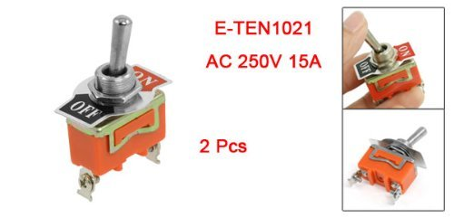 DealMux AC 250V 15A SPST 2 Posição On / OFF Toggle Switch 2 Pcs: Amazon.com: Industrial & Scientific
