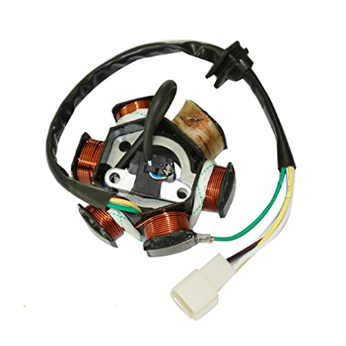 Atv Stator - GOOFIT 6 Poles Ignition Magneto Stator for 50cc 70cc 90cc 110cc 125cc ATV Quad Pocket Bike