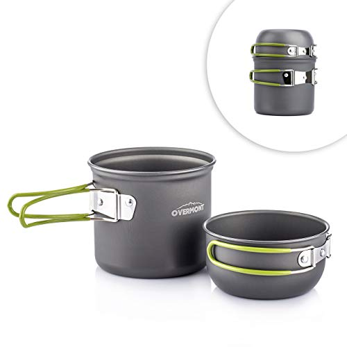Overmont Portable Approved Aluminum Cookware
