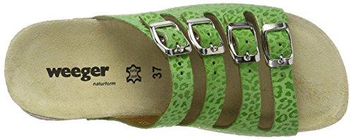 keil Donna Verde Verde pantolette Weeger scarpe Bio Hqan7w