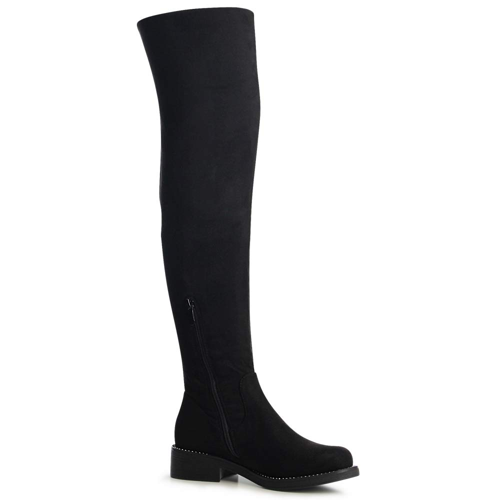 Damen Worker Biker Boots Glitzer Velours Plateau Stiefeletten Booties | eBay