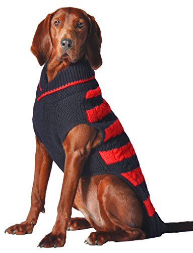 Chilly Dog Red and Navy Rugby Sweater, X-Large