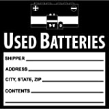 National Marker Corp. HW37AL Labels, Used Batteries, 6 Inch X 6 Inch, PS Paper, 500/Roll